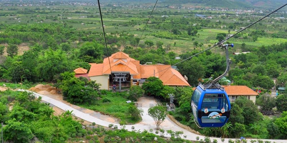 Ta Cu Mountain located around 30 kilometers west of Phan Thiet. An aerial tram takes you most of the way to the largest reclining Buddha in Southeast Asia. Spectacular views from the top of the mountain.