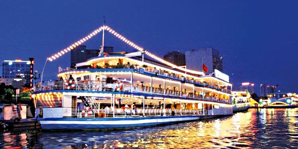Saigon riverboat cruise with optional dinner Vietnam's largest city awaits you on this relaxing evening cruise along the Saigon River offering spectacular views of the historic waterfront. Great food, art, and music for a truly immersive experience.