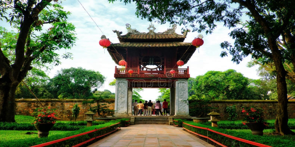 Temple of Literature (Văn Miếu – Quốc Tử Giám) in Hanoi was founded almost 1 000 years ago located up to 3 km from Hoan Kiem Lake, which is one of the oldest and most important monuments in the city. Temple of Literature was founded in 1070 by Emperor Ly Thanh Tong and is dedicated to the Chinese philosopher Confucius.
