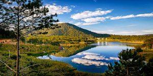 Tuyen Lam Lake is a man-made lake in the city of Dalat
