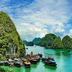Halong Bay natural wonder (Vịnh Hạ Long) located in the North in Quang Ninh Province of Vietnam and must-visit travel destination. Halong Bay is one of the Seven Natural Wonders of the World.